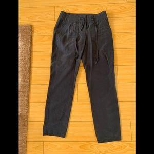 Blue 100% silk Theory Pants